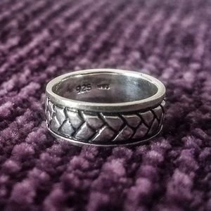 Vintage Sterling Silver Band Ring Size 6